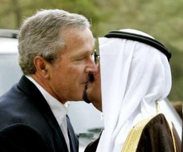bush kissing
